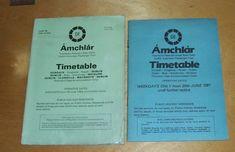 CIE DUBLIN SUBURBAN PASSENGER TRAIN ARMCHLAR TIMETABLES DUNDALK WICKLOW 1981/2 Dublin, Train Timetable