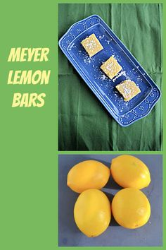 Grab a bag of Meyer Lemons and make these Meyer Lemon Bars with a buttery, nutty crust and sweet and tart lemon layer. #lemonrecipes #dessertrecipes #lemonbars | Meyer Lemons | Lemon Bar Recipe | Dessert Recipes | lemon Recipes | Winter Recipes |