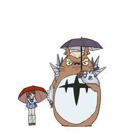 Kill la Kill meets Totoro Mako & Gamagori