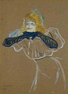 """'Yvette Guilbert singt """"Linger Linger Loo""""', 1894"""