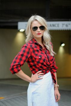 ANDREA CLARE blog - girly plaid