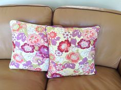 """Gypsy Caravan"" Quilted Pillows by Amy Butler. If you like, see Etsy Shop ""Byhand66"" SOLD"