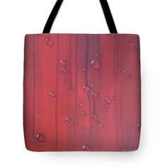 WATER DROPS ON RED Tote Bag for sale by T Fry-Green. $26.00 The tote bag is machine washable, available in three different sizes, and includes a black strap for easy carrying on your shoulder.  All totes are available for worldwide shipping and include a money-back guarantee. #waterdropsonred #red #water #drops #waterdrops #drips #waterdrips #fashionbag #tfrygreenart #tfrygreen #homeatlaststudio #art #original #tote #toteart #fineartamerica