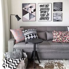 Decor Black And White Bedroom Couch Ideas Living Room Interior, Home Living Room, Living Room Decor Black Sofa, Bedroom Couch, Bedroom Boys, White Bedroom, Bedroom Decor, Interior Architecture, Interior Design