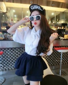 SK000125 Spring lace sets high waist bow collar short skirt
