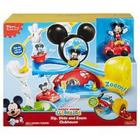 Disney Mickey Mouse Zip, Slide and Zoom Clubhouse Playset