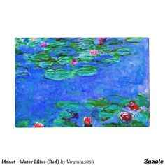 Monet - Water Lilies (Red) Placemat