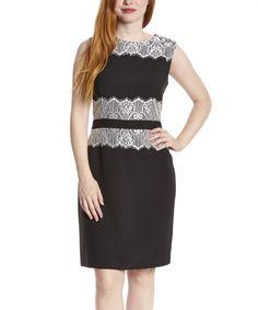 Black & White Lace Sleeveless Dress - Women by  #zulily #zulilyfinds