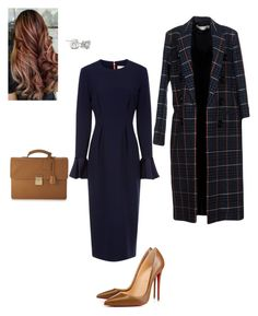 """Dinner out"" by cgraham1 on Polyvore featuring Roksanda, Christian Louboutin, Victoria Beckham and Louis Vuitton"