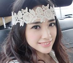 #DIY Large Lace Headband