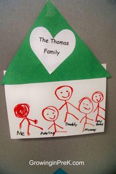 family bulletin boards for preschool | cute bulletin board of family houses on Miss Renee's Kindergarten ...