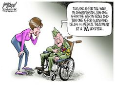 SAD BUT TRUE-WORLD Political Cartoons (Dr. Margaret Moxness,VA Affairs Psychiatrist was TOLD to 'put off treatment' to Vets. (2 of her PTSD patients committed SUICIDE while waiting for an appt.) SHE THANKED FOX FOR BEING A WATCHDOG & KEEPING VA IN THE NEWS!)