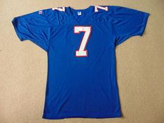 #Vintage new york giants nfl american #football #jersey - verdi #7 - mens large,  View more on the LINK: http://www.zeppy.io/product/gb/2/152308274366/