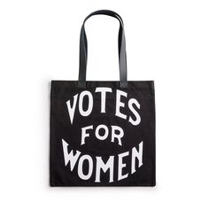 From Seneca Falls to a presidential nomination, women have made enormous contributions to the world, making it a better, fairer, all-around more awesome place. Reusable Shopping Bags, Reusable Tote Bags, You Go Girl, Smart Women, Black Tote Bag, Leather Handle, Womens Tote Bags, Sale Items, Personalized Items