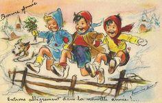 *Bonne Année! Germaine Bouret* Vintage Christmas
