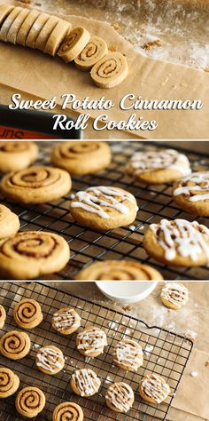 This recipe embodies everything you love in a cinnamon rool, but only requires half the time and is made with healthier ingredients. Sweet potato puree can also be swapped out with pumpkin puree for pumpkin cinnamon roll cookies instead!  http://www.ehow.com/ehow-food/blog/sweet-potato-cinnamon-roll-cookies/?utm_source=pinterest&utm_medium=fanpage&utm_content=blog
