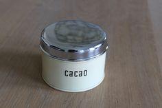 Oud cacao blikje van Brabantia