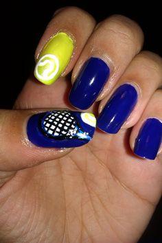 Tennis nail art
