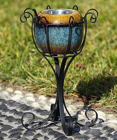 Look what I found on #zulily! Black Scroll Fireside Stand #zulilyfinds