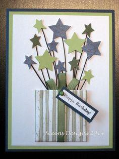 DIY Card Making - Birthday Card (no directions) Homemade Birthday Cards, Birthday Cards For Boys, Masculine Birthday Cards, Homemade Cards For Men, Masculine Cards, Diy Birthday, Happy Birthday, Birthday Design, Cricut Birthday Cards