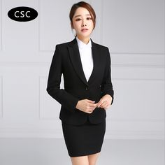 Women Skirt Suit Woman Formal Business Suit for Women Office Uniform Designs Women Two Pieces //Price: $80 & FREE Shipping //     #shopping
