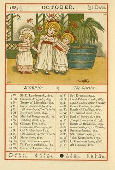 October - Kate Greenaway's Almanack for 1884