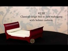 1/12 Mahogany Sleigh Bed the Dolls House Emporium
