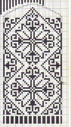 mittens pattern charts   KART 2 LUER & VOTTER on Pinterest   Mittens Pattern, Mittens and ...