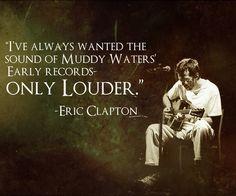 Eric Clapton Blues Quote Art Print