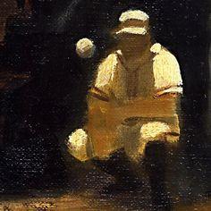 Detail #oils #oilpainting #tatsurokiuchi #illustration #illustrator #baseball #player #painting #detail