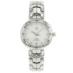 Tag Heuer Link Ladies Diamond Swiss Automatic Watch WAT2311.BA0956 -- Learn more by visiting the image link.