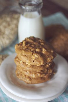 PB2+Oatmeal+Breakfast+Cookies   {Clean Eating, Low Carb, Gluten Free, High Protein}