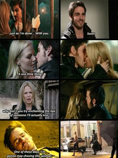 Emma and Hook lies. Captain Swan Once Upon a Time Abc Shows, Best Tv Shows, Best Shows Ever, Movies And Tv Shows, Once Upon A Time Funny, Once Up A Time, Captain Hook, Captain Swan Kiss, Hook And Emma
