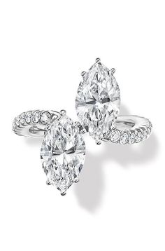 Harry Winston Toi & Moi platinum and diamond ring