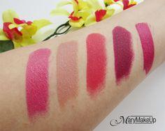 Deborah Milano Lipsticks Collection Swatches
