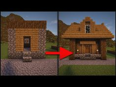 Minecraft: How To Remodel A Village - Part 2 (Small House) - YouTube
