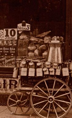 Dairy shop S. Jones, London, early 20th c., photo by Philip Mernick, on spitalfieldslife