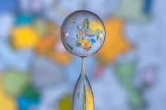 Perfectly timed #photo of a water-dropplet globe #photography #earth