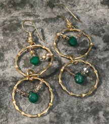 TRU Love Earrings  Emerald- successful love, partnership, loyalty