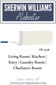 Sherwin Williams Alabaster is a gorgeous, neutral white with subtle undertones. See this color in different lighting to see if this color is right for you! Matching Paint Colors, Neutral Paint Colors, Interior Paint Colors, Paint Colors For Home, Interior Painting, House Colors, Sherwin Williams Alabaster White, Sherwin Williams Extra White, Popular Paint Colors