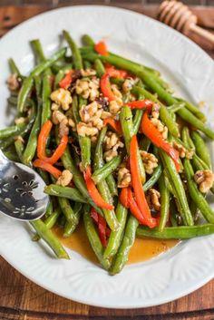 Honey Green Beans and WalnutsReally nice recipes. Every  Mein Blog: Alles rund um die Themen Genuss & Geschmack  Kochen Backen Braten Vorspeisen Hauptgerichte und Desserts # Hashtag