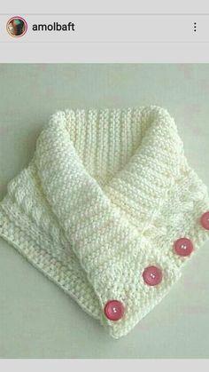 Crochet Cowl Free Pattern, Bonnet Crochet, Baby Sweater Knitting Pattern, Granny Square Crochet Pattern, Baby Knitting, Crochet Baby, Knit Crochet, Crochet Patterns, Beginner Knitting Patterns