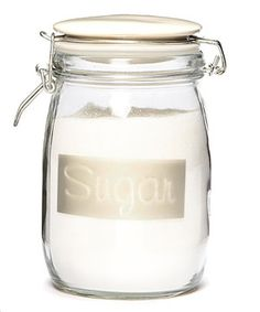 Store sugar in this appealing airtight container to maintain freshness and flavor. Crafted from sturdy glass with a silicone seal, it adds vintage flair to the countertop.