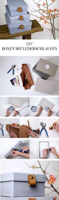 Boxen zur Aufbewahrung mit Lederriemen - DIY Blog aus Berlin http://lindaloves.de