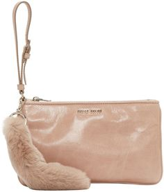 Miu Miu - Pink Leather & Fur Pouch