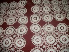 Vintage handmade crochet lace circles design by FabulousFinds1, $25.00