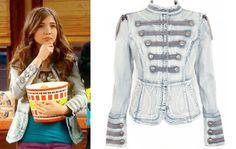 Riley Matthews (Rowan Blanchard) wears a Guess Denim Military Jacket in an upcoming episode Girl Meets World Season 1.