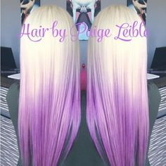 Light Blonde to Purple Ombre