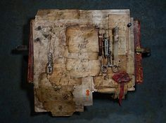 Manuscripts - Mixed Media with Beeswax
