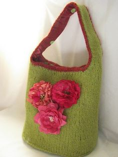 Image result for knitted bags free patterns